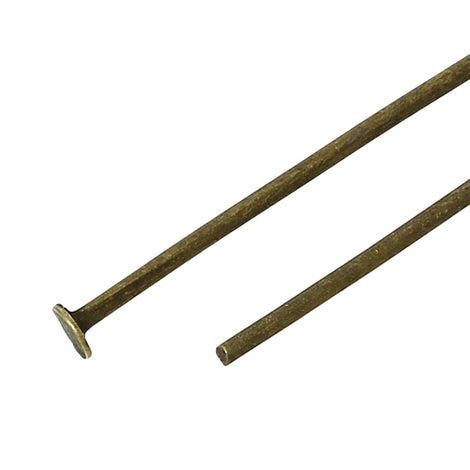 "500 Bronze Flat Head Pins for jewelry making, 2-3/4"" long 20ga, pin0075"