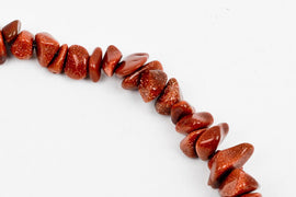 Sparkly GOLD SAND STONE Goldstone Gemstone Chips . 1 double strand . 35 inches ggs0021