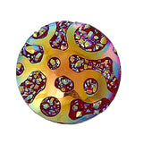 10 Round Resin Druzy Cabochons, Rainbow AB Metallic Frosted, 12mm  cab0265a