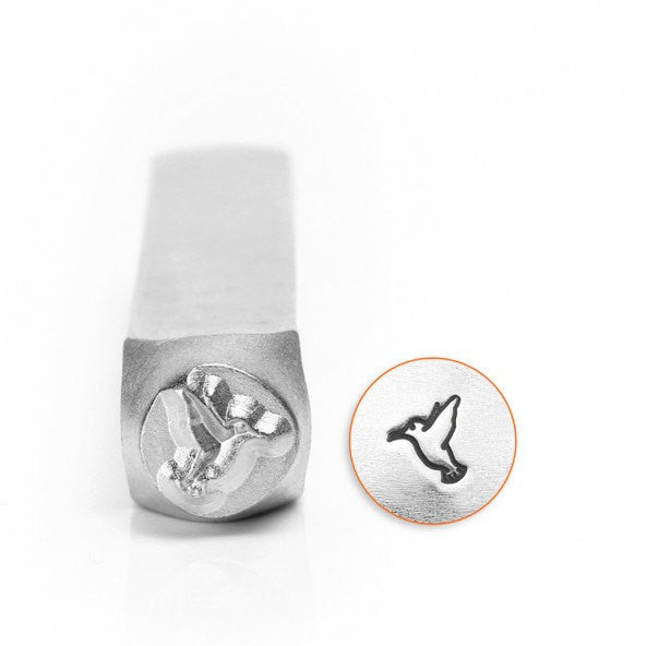 ImpressArt Metal Design Stamp,  6mm HUMMINGBIRD   tol0281