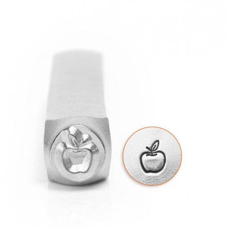 ImpressArt Metal Design Stamp,  6mm APPLE Outline  tol0261