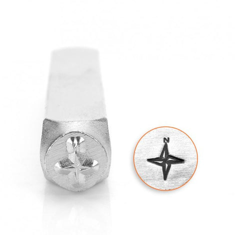 ImpressArt Metal Design Stamp,  6mm COMPASS ROSE   tol0066