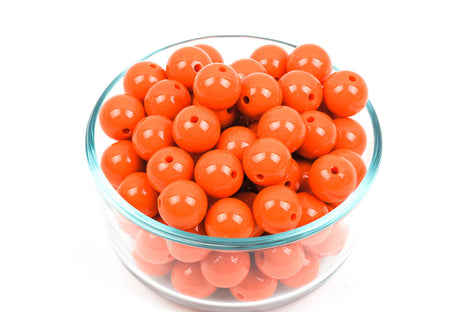 20mm Orange Acrylic Bubblegum Beads, package of 20,  bac0283