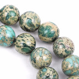 6mm AQUA TERRA JASPER Round Gemstone Beads, natural, mint green, tan, full strand gja0061