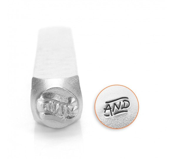 ImpressArt Metal Design Stamp,  6mm Fancy AND Symbol tol0298