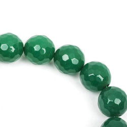 6mm Round Faceted EMERALD GREEN JADE Gemstone Beads, full strand gjd0117