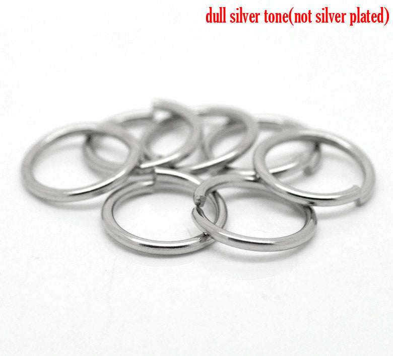 "50 PCs 13mm STAINLESS STEEL Thick Open Jump Rings 16 gauge wire Findings, 1/2"" diameter jum0149"