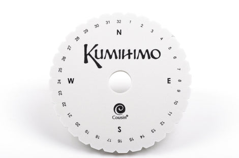 "6"" KUMIHIMO DISC for jewelry braiding includes full instructions with photos tol0389"