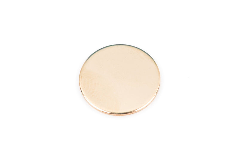 "1 Gold Filled CIRCLE Disc Metal Stamping Blanks, 14k, double clad, 24 gauge, 1/2"" diameter (12.7mm) pmg0007"