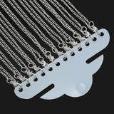 "One Dozen (12) Silver Plated Lobster Clasp Flat Curb Link Chain Necklaces 2.5x2mm, 18""  fch0272"