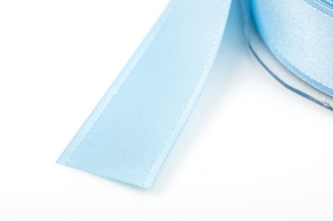"1"" inch wide BABY BLUE Double Faced Satin Ribbon with Grosgrain Edge 2 yards (6 feet)  rib0091"
