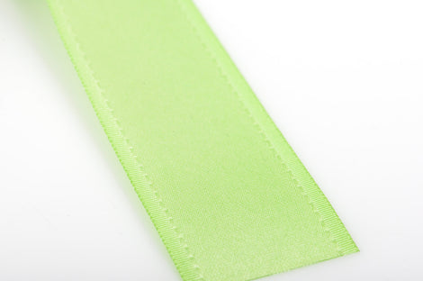 "1"" inch wide SPRING GREEN Double Faced Satin Ribbon with Grosgrain Edge 2 yards (6 feet)  rib0093"