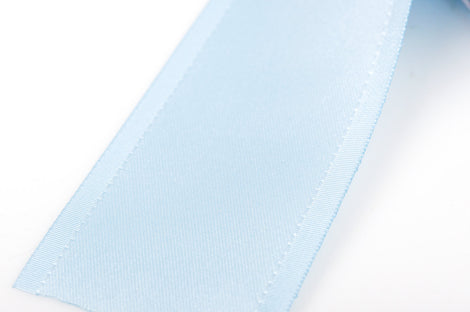 "1-1/2"" inch wide BABY BLUE Double Faced Satin Ribbon with Grosgrain Edge 2 yards (6 feet)  rib0109"