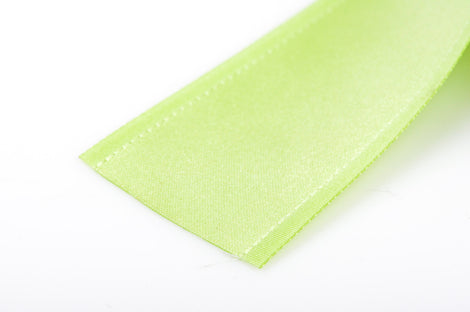 "1-1/2"" inch wide SPRING GREEN Double Faced Satin Ribbon with Grosgrain Edge 2 yards (6 feet)  rib0111"