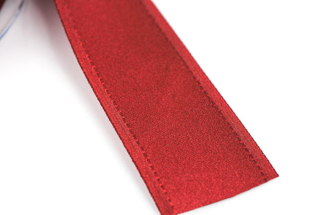 "1"" inch wide MAROON RED Double Faced Satin Ribbon with Grosgrain Edge 2 yards (6 feet)  rib0099"