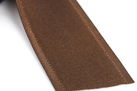 "1-1/2"" inch wide CHOCOLATE BROWN Double Faced Satin Ribbon with Grosgrain Edge 2 yards (6 feet)  rib0110"