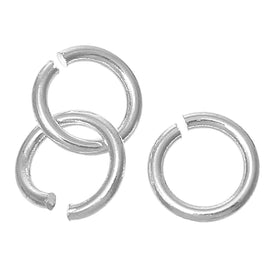 500 BULK Silver Plated Open Jump Rings 8mm x 1.2mm, 16 gauge wire, copper base with silver plating,  jum0151b