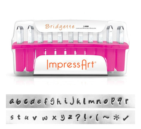 ImpressArt Metal Alphabet Letter Stamping Set,  3mm LOWERCASE BRIDGETTE Font tol0251