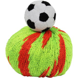 SOCCER BALL Knitting Hat Kit, Beanie Hat Kit, includes yarn and plush stuffed character, Top This!™ knt0090
