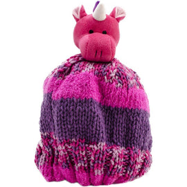 UNICORN Knitting Hat Kit, Beanie Hat Kit, includes yarn and plush stuffed character, Top This!™ knt0088