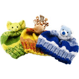GIRAFFE Knitting Hat Kit, Beanie Hat Kit, includes yarn and plush stuffed character, Top This!™ knt0086