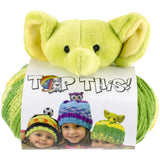 ELEPHANT Knitting Hat Kit, Beanie Hat Kit, includes yarn and plush stuffed character, TOP THIS!™ knt0082
