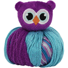 OWL Knitting Hat Kit, Beanie Hat Kit, includes yarn and plush stuffed owl, TOP THIS!™ knt0081