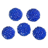 25 RESIN DRUZY Style Pavé CABOCHONS, Royal Blue, 10mm diameter  cab0373a