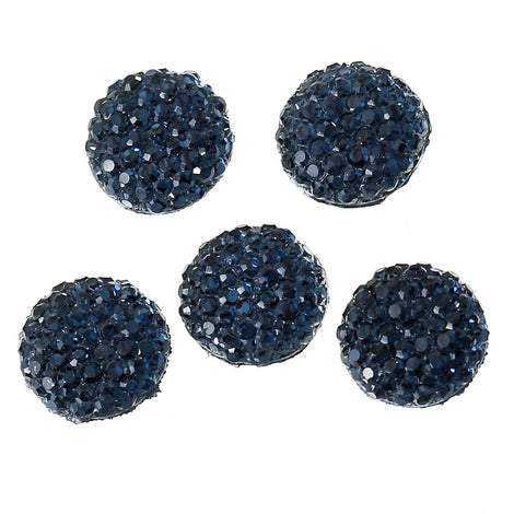 25 RESIN DRUZY Style Pavé CABOCHONS, Midnight Blue, 10mm diameter  cab0368a
