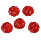 "100 RESIN DRUZY Style Pavé CABOCHONS, Red, 12mm diameter, 1/2"" cab0374b"