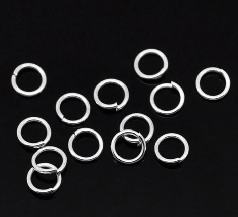 50 Silver Plated Open Jump Rings 5mm x 0.8mm, 20 gauge wire,  jum0156a