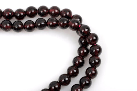 10mm Round Dark RED GARNET Beads, FULL strand, about 43 beads gga0009