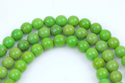 8mm Howlite Stone Beads ROUND Ball, KELLY GREEN, full strand, how0203
