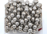 1 yard (3 feet) Matte Silver Round Bead Chain, Rosary Chain, Metal Ball Chain Beads are 8mm  fch0361a