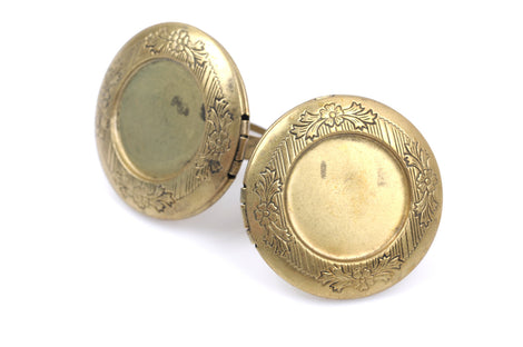5 Brass LOCKET RING BLANKS, Large Antique Bronze Metal Photo Frame Locket Ring, fits 19mm outside, fits 24mm inside, adjustable, fin0519