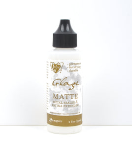 Vintaj Patina Glaze, CLEAR MATTE, Paint for All Metal, Clear Metal Sealer, Clear Metal Sealant, Ranger Patina, large 2 oz. bottle, pnt0014