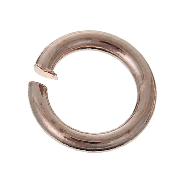 50 pcs 5mm ROSE GOLD Open Jump Rings, Wire Findings, 20 gauge, brass base, jum0163