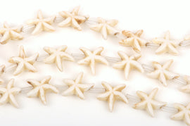 14mm WHITE STARFISH Beads, howlite beads, full strand, about 26 beads, how0475