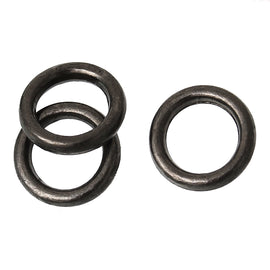 50 PCs 6mm Gunmetal Black Metal Soldered Closed Jump Rings, 1.2mm thick, 16 gauge wire Findings, jum0167