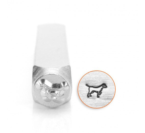 ImpressArt Metal Design Stamp,  6mm LAB RETRIEVER Dog, Labrador Retriever Stamp, tol0546