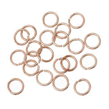 50 pcs 7mm ROSE GOLD Open Jump Rings, Wire Findings, 19 gauge, jum0162
