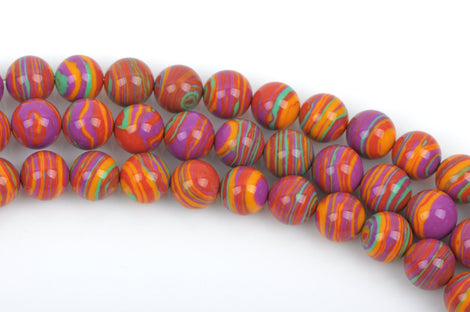 8mm Round RAINBOW Beads, Composite Stone, full strand, about 50 beads, gmx0040