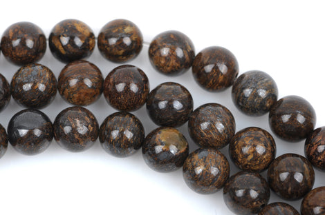 10mm Round BRONZITE Gemstone Beads, FULL strand, about 40 beads, gbr0001