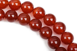 8mm HARVEST RED JADE Beads, Rust Red Jade Beads, Round Gemstone Beads, Smooth, full strand, 48 beads per strand, gjd0184