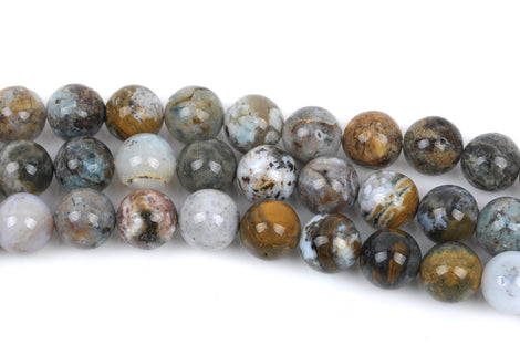 6mm OCEAN JASPER Round Beads, natural gemstone beads, full strand, about 65 beads, gja0114