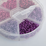 6mm Open Jump Rings for Chain Maille, Pinks and Purples, Storage Box, 20 gauge, jum0226