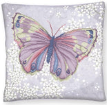 "Diamond Painting Kit PAPILLON MAUVE Purple Butterfly PILLOW Diamond Dotz 17x17"" kit0174"