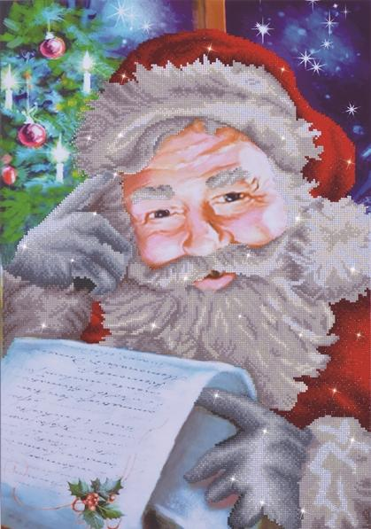 "Diamond Painting Kit SANTA'S WISH LIST Diamond Dotz 20x28"" kit0179"