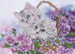 "Diamond Painting Kit KITTY BASKET Diamond Dotz 21x15"" kit0186"