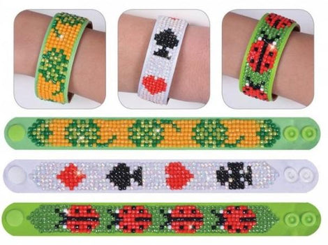Diamond Dotz BRACELETS LUCKY LUCKY Rhinestone Facet Painting Kit, Set of 3, kit0206